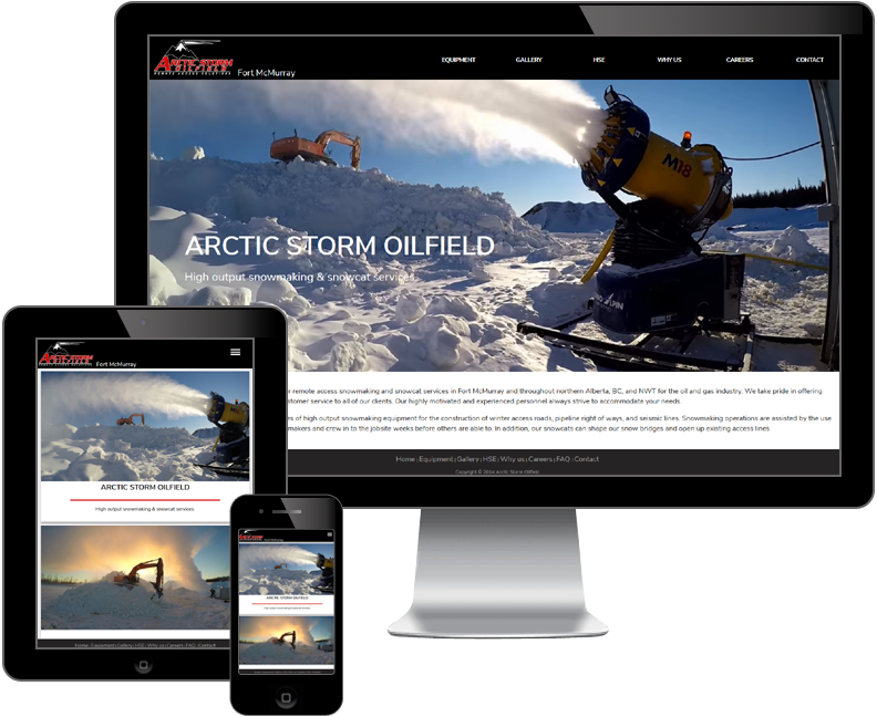 Arctic Storm Oilfield website
