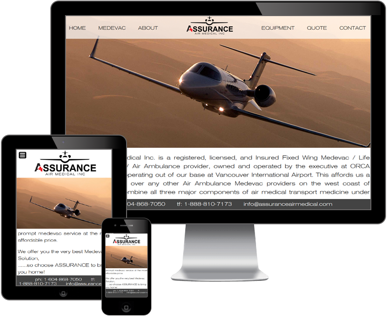 Assurance Air Medical Inc website