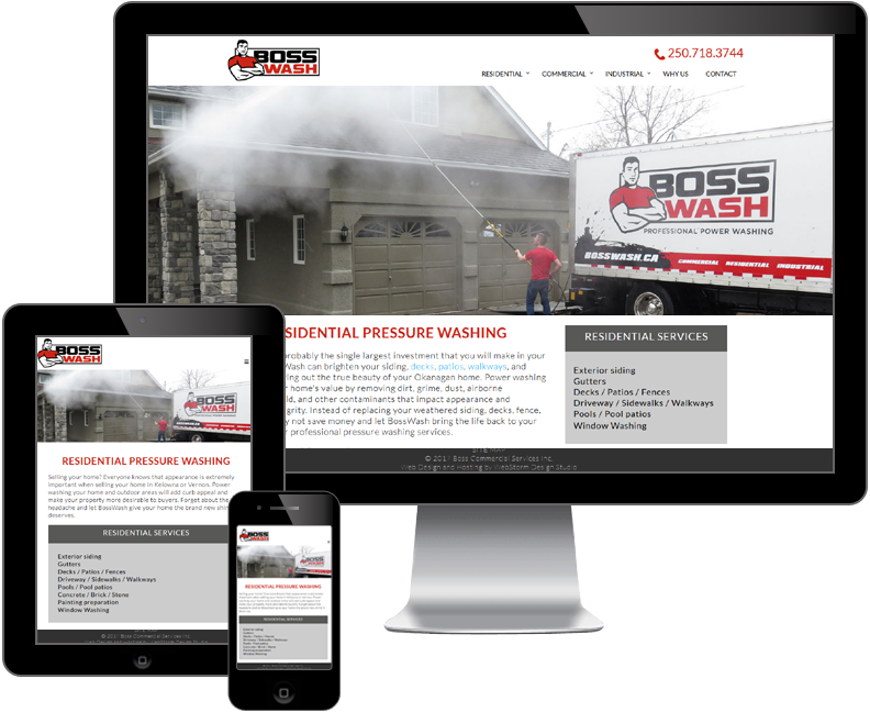 Boss Commercial Services website