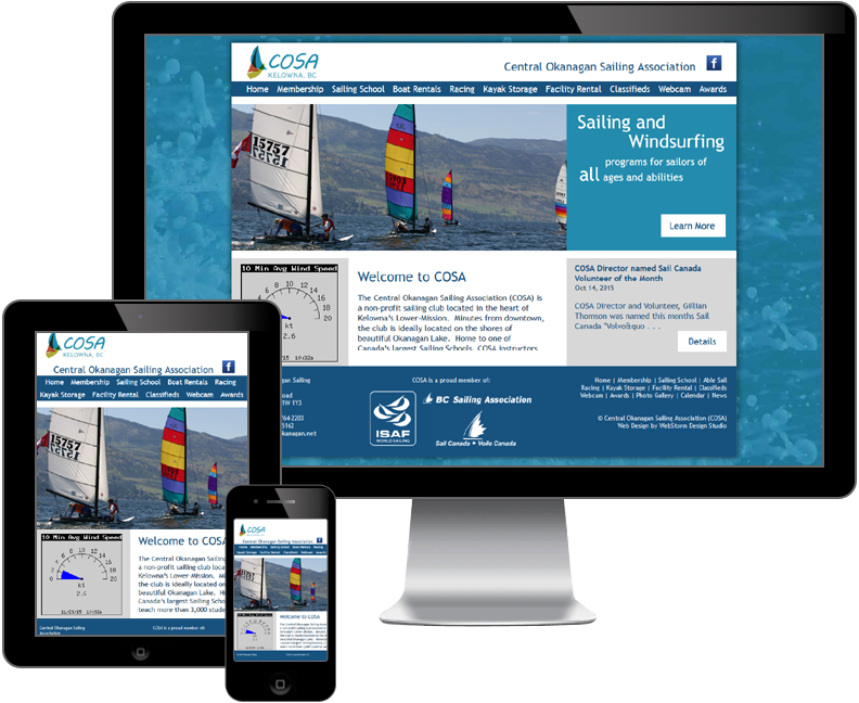 central okanagan sailing association website