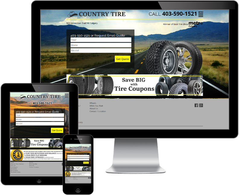 Country Tire Automotive website