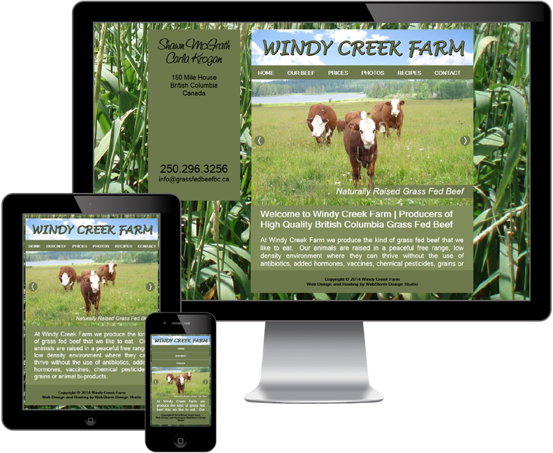 windy creek farm website