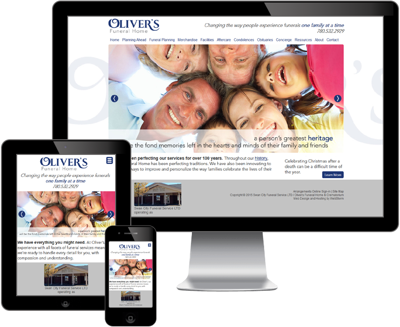 oliver's funeral home website