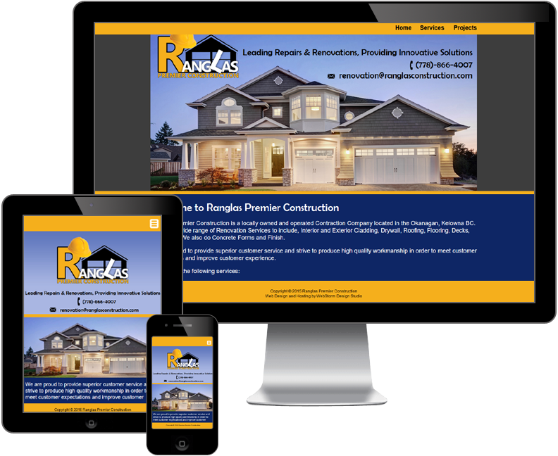 ranglas premier construction website