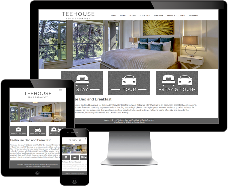 Teehouse Bed and Breakfast website