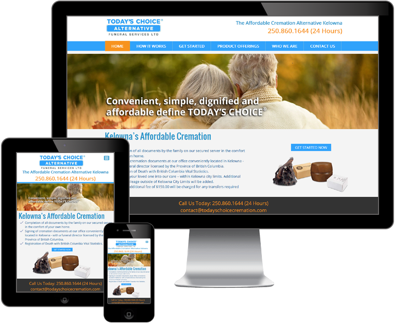 Today's Choice Alternative Funeral Services website