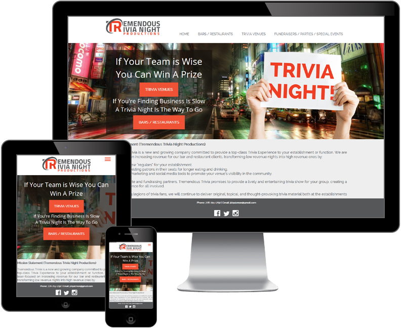 Tremendous Trivia Productions website